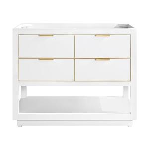 Avanity Allie 42-in Vanity - White with Gold Trim