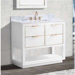 Avanity Allie 36-in Vanity - White with Gold Trim