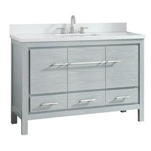 Azzuri Riley Vanity - 49-in - Engineered Stone Top - Gray