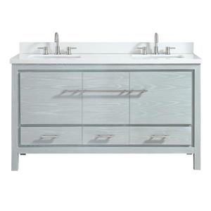 Azzuri Riley Vanity - 61-in - Engineered Stone Top - Gray