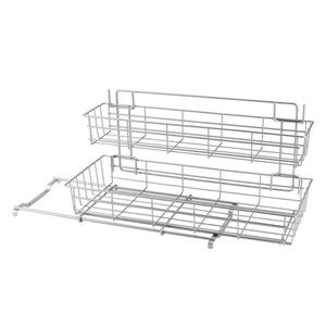 Metaltex Limpio Rack Storage Basket - Steel - Gray
