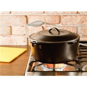 Lodge Cast Iron Double Dutch Oven With Spiral Handle - 5 qt.