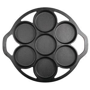Lodge Drop Biscuit Cast Iron Pan - 12.88 x 11.31-in.