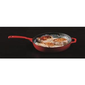 Lodge Cast Iron Enamel Skillet - 11-in. - Red
