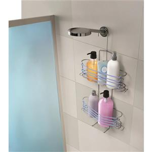 Metaltex 3-Tier Expandable Shower Caddy - Gray