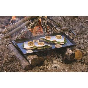 Seasoned Steel Griddle, 18 x 10-in.