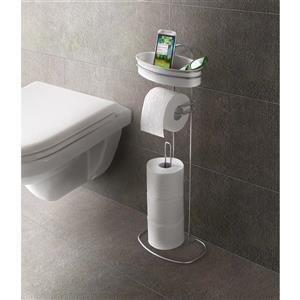 Metaltex Orbit Toilet Paper Holder - Metal - White