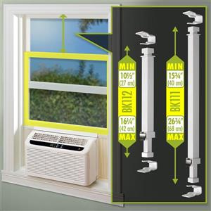 Ideal Security Window Security Bar with Anti-Lift Lock - 10.5-in to 16.5-in - White