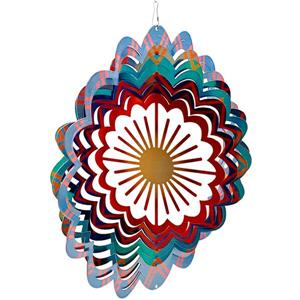 Dundee Deco Falkirk Wind Spinner - Sun - Blue and Red