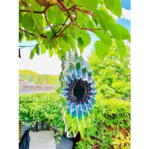 Dundee Deco Falkirk Wind Spinner - Vortex Splash - Green and Purple