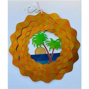 Dundee Deco Falkirk Wind Spinner - Beach - Yellow