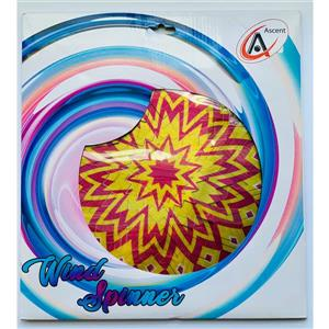 Dundee Deco Falkirk Wind Spinner - Maze Splash - Yellow and Red