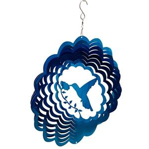 Dundee Deco Falkirk Wind Spinner - Hummingbird - Blue