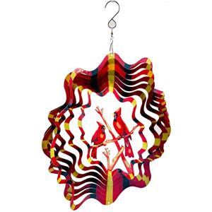 Dundee Deco Falkirk Wind Spinner - Cardinals - Red and Black