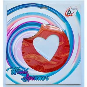 Dundee Deco Falkirk Wind Spinner - Heart - Red