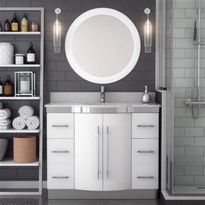 Spa Bathe Magdalene Series Bathroom Vanity and Sink - 42-in. - White