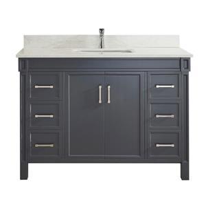 Spa Bathe Sedona Series Bathroom Vanity and Sink - 48-in. - Pepper Gray