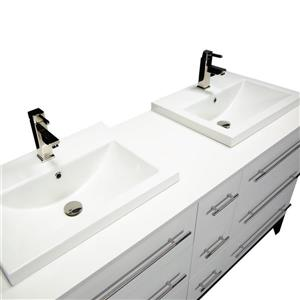 Spa Bathe Kendra Series Bathroom Vanity and Sink - 63-in. - White