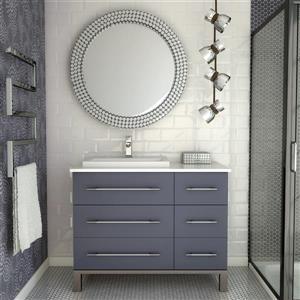 Spa Bathe Kendra Series Bathroom Vanity and Sink - 42-in. - Pepper Gray