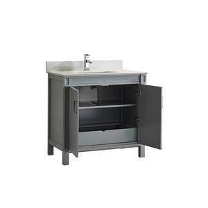 Spa Bathe Sedona Series Bathroom Vanity and Sink - 36-in. - Oxford Gray