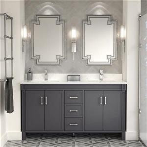 Spa Bathe Sedona Series Bathroom Vanity and Sink - 63-in. - Pepper Gray