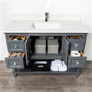 Spa Bathe Talon Series Bathroom Vanity and Sink - 48-in. - Pepper Gray