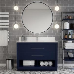 Spa Bathe Reynaldo Series Bathroom Vanity and Sink - 48-in. - Navy Blue