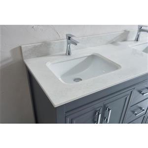 Spa Bathe Cora Vanity and Sink - 60-in. - Quartz Top - Pepper Grey