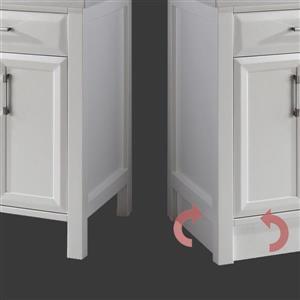 Spa Bathe Calumet Vanity and Sink - 63-in. - Quartz Top - White