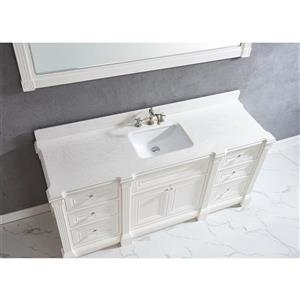Spa Bathe Avella Vanity and Sink - 72-in. - Quartz Top - White