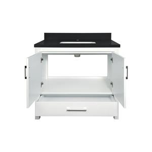 GEF Willow Vanity with  Quartz Top - 36-in - White