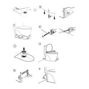 SERA Belize 1-Piece Toilet - White