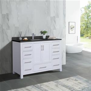 GEF Willow Vanity with  Quartz Top - 48-in - White