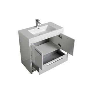 GEF Ember Bathroom Vanity with Medicine Cabinet - Acrylic Top - 36-in - White