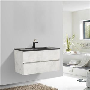 GEF Sadie Bathroom Vanity - Quartz Top - 36-in - Grey