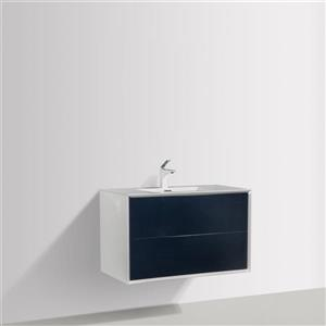 GEF Floy Bathroom Vanity - Acrylic Top - 36-in - White