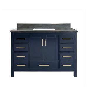 GEF Willow Bathroom Vanity - Granite Top - 48-in - Blue