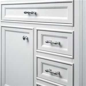 GEF Brielle Bathroom Vanity - Quartz Top - 36-in - White