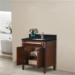 GEF Catalina Bathroom Vanity - Quartz Top - 30-in - White
