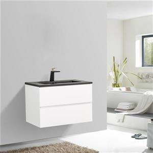GEF Sadie Bathroom Vanity - Quartz Top - 30-in - White