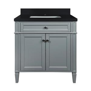 GEF Catalina Bathroom Vanity - Quartz Top - 30-in - Grey