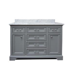GEF Brielle Bathroom Vanity - Natural marble Top - 48-in - Grey
