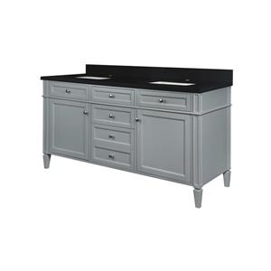GEF Catalina Bathroom Vanity - Quartz Top - 60-in - Grey
