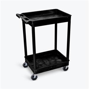 Luxor Tub Cart - Two Shelves - Black