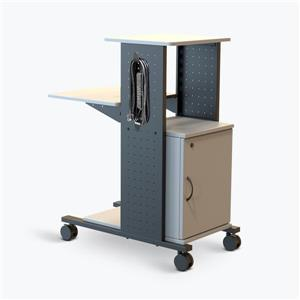 Luxor 40-in  Presentation Station- Cabinet - Electric - Gray