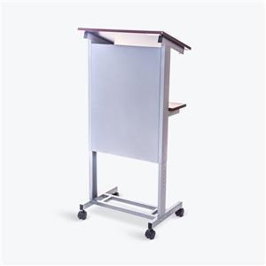 Luxor Rolling Adjustable-Height Podium - Gray