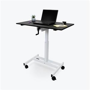 Luxor 40-in Single-Column Crank Stand Up Desk - Gray
