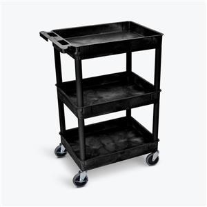 Luxor Tub Cart - Three Shelves - Black