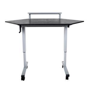 Luxor 60-in Stand Up Corner Desk with Crank - Black