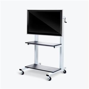 Luxor Crank Adjustable Flat Panel Cart - Gray
